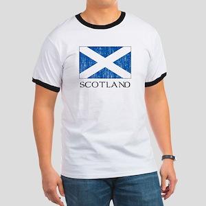 Scotland Flag Ringer T