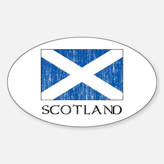 Scotland Flag Oval Decal