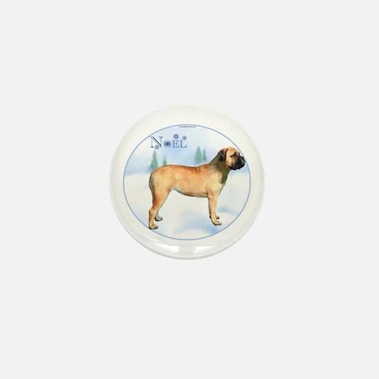 Bullmastiff Noel Mini Button