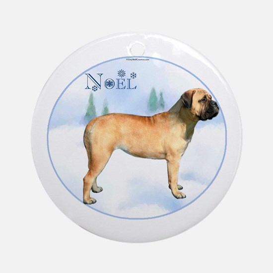 Bullmastiff Noel Ornament (Round)