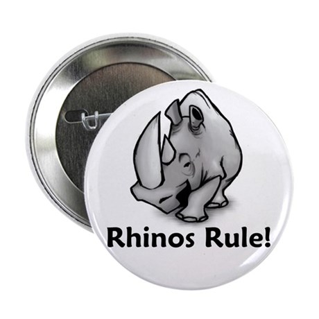 """Rhinos Rule! 2.25"""" Button (100 pack)"""