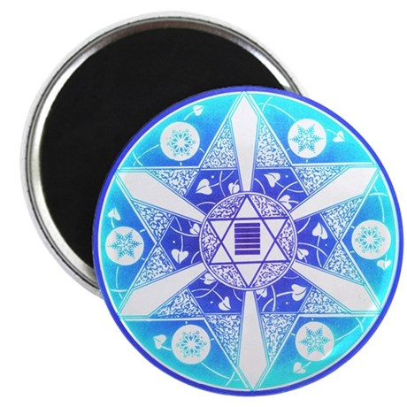 "Hexagram Star Mandala 2.25"" Magnet (10 pack)"