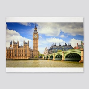 London Bridge And Big Ben 5'x7'Area Rug