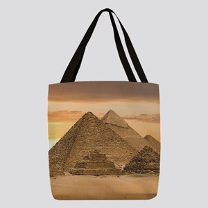 Egyptian Pyramids Polyester Tote Bag