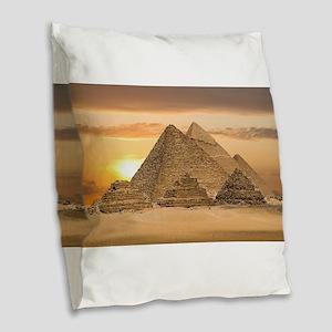 Egyptian Pyramids Burlap Throw Pillow