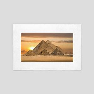Egyptian Pyramids 4' x 6' Rug