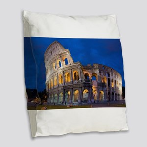 Coliseum Burlap Throw Pillow