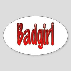 Badgirl Oval Sticker