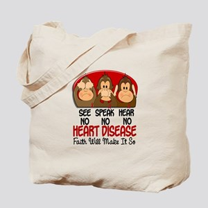 See Speak Hear No Heart Disease Tote Bag