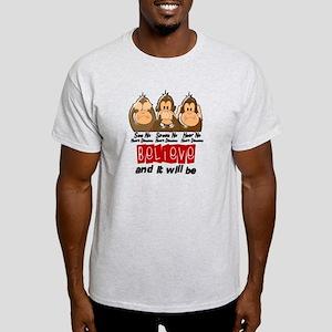 See Speak Hear No Heart Disease Shirt Light T-Shir