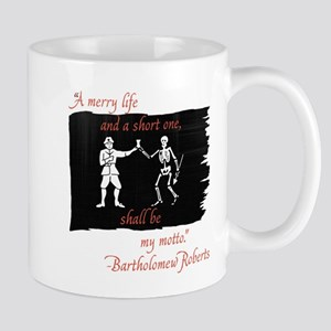 Bartholomew Roberts Pirate Flag Mugs