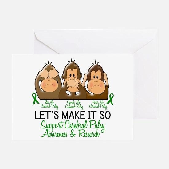 See Speak Hear No Cerebral Palsy 2 Greeting Card