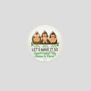 See Speak Hear No Cerebral Palsy 2 Mini Button