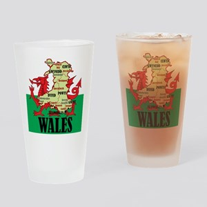 Wales 2 Drinking Glass
