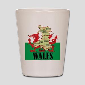 Wales 2 Shot Glass