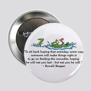 "Reagan Crocodile 2.25"" Button"
