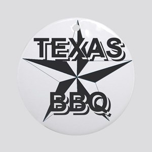 Texas BBQ Ornament (Round)