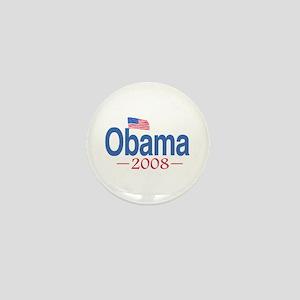 Obama 2008 Flag Mini Button