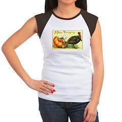 Thanksgiving Cornucopia Women's Cap Sleeve T-Shirt