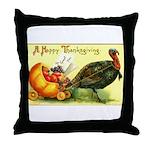 Thanksgiving Cornucopia Throw Pillow