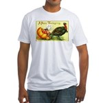 Thanksgiving Cornucopia Fitted T-Shirt