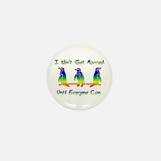 Same Sex Marriage Penguins Mini Button