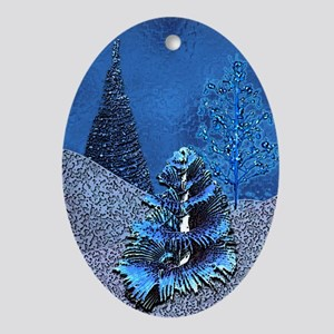 Tahleen's Delvian Winter Scape Oval Ornament