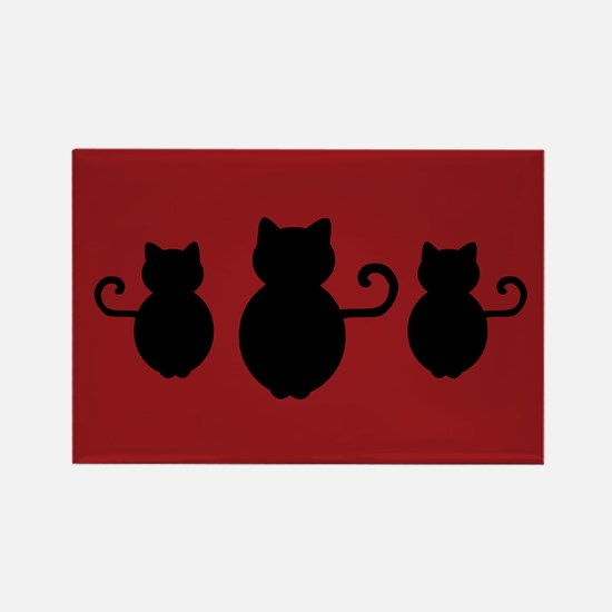 Cat Signal Silhouette Rectangle Magnet