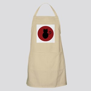 Cat Signal Silhouette BBQ Apron