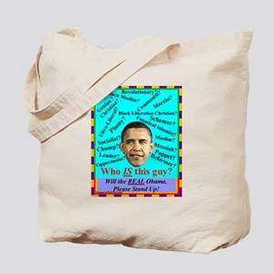 """""""Who Is Obama?"""" Tote Bag"""