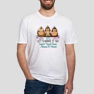 See Speak Hear No Thyroid Disease 2 Fitted T-Shirt