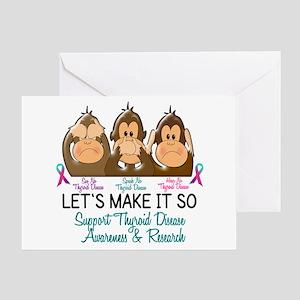 See Speak Hear No Thyroid Disease 2 Greeting Card