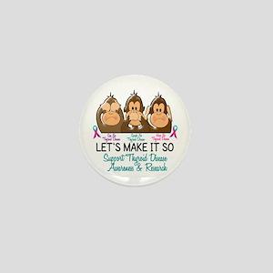 See Speak Hear No Thyroid Disease 2 Mini Button