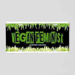 Vegan Feminist Aluminum License Plate