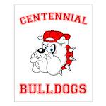 Centennial Bulldogs Small Poster