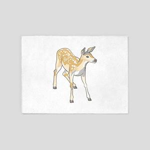 Fawn Deer 5'x7'Area Rug