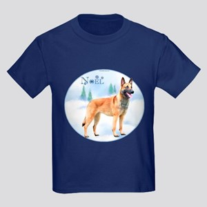 Malinois Noel Kids Dark T-Shirt