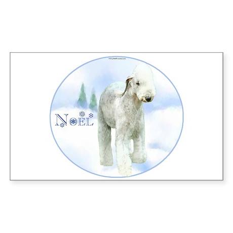 Bedlington Noel Rectangle Sticker