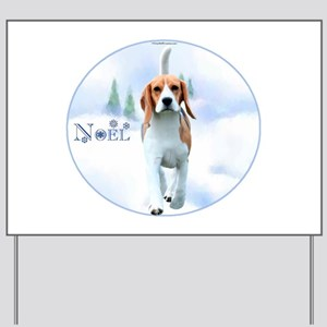 Beagle Noel Yard Sign