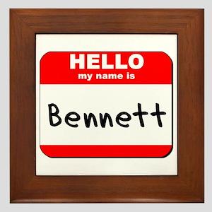 Hello my name is Bennett Framed Tile