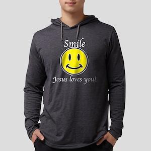 Smile Jesus Mens Hooded Shirt