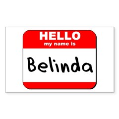 Hello my name is Belinda Rectangle Decal