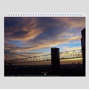 Rain Clouds at Sunset Wall Calendar