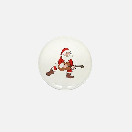 Santa w/ Guitar Mini Button (10 pack)