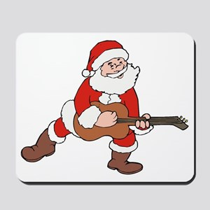 Santa w/ Guitar Mousepad