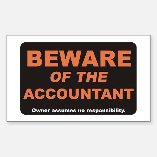 Beware / Accountant Rectangle Decal