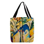 Abstract Triangles After Kandinsky Polyester Tote