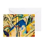 Abstract Triangles After Kandinsky Greeting Cards
