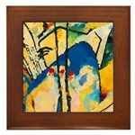 Abstract Triangles After Kandinsky Framed Tile