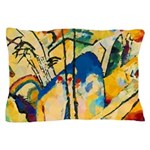 Abstract Triangles After Kandinsky Pillow Case